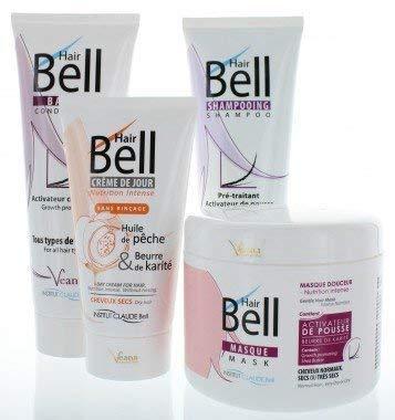 HairBell Shampoo + Conditioner + Maske + HairCream intensiv
