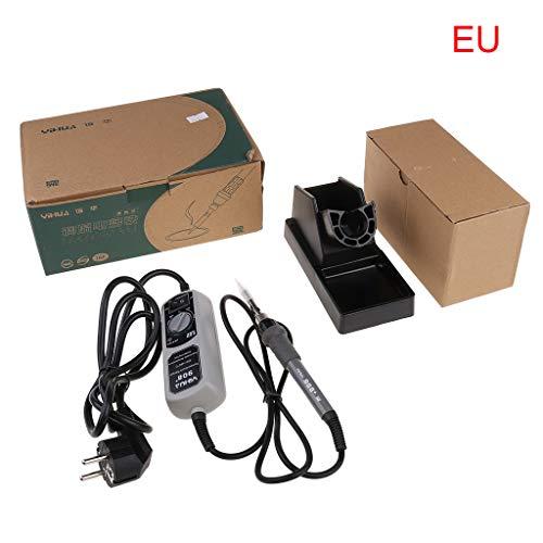 Soldeerbout, 908 + Inner Heat soldeerbout instelbare thermostaat elektrisch strijkijzer 4 soorten optionele mini elektrische soldeerbout EU grijs/zwart