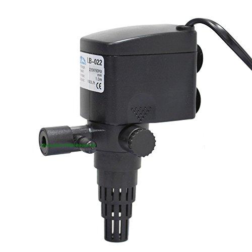 Aquarium Multifunktionspumpe 600L/h, 8W, Pumpe für AA UVC-Wasserklärer 5W