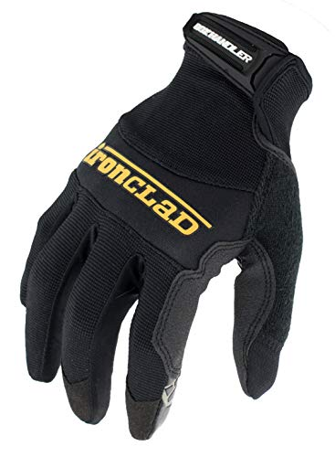 Ironclad Box Handler Work Gloves BHG, Extreme Grip, Performance Fit, Durable, Machine Washable, (1 Pair), Small - BHG-02-S , Black