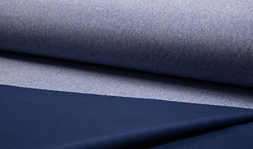 Qualitativ hochwertiger Softshell Stoff in Blau Melange als Meterware zum kreativen Nähen von Baby, Kinder- und Erwachsenenbekleidung, 50 cm