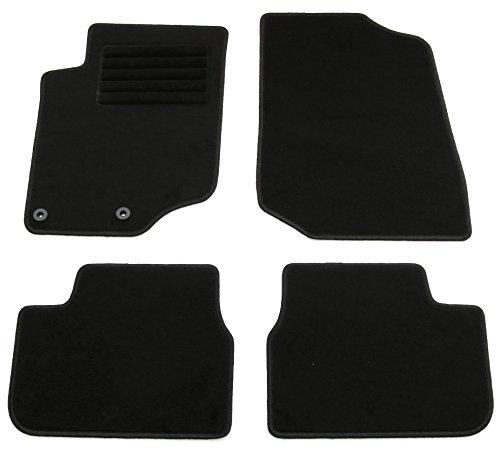 AD Tuning HG11890 Velours Fußmatten Set (4-teilig) Schwarz Passform Autoteppiche
