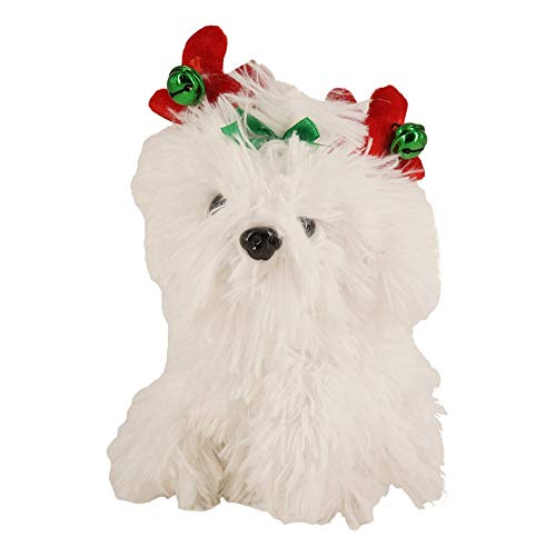 Animated Dog Puppy Antlers Musical Plush Stuffed Animal Dances Holiday Song