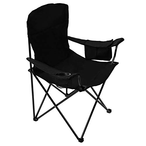 Pacific Pass Full Back Quad Chair for Outdoor and Camping with Cooler and Cup...