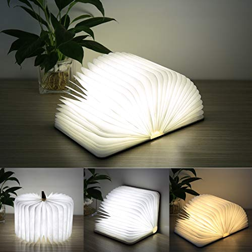 Zaklamp Creative LED Flip Origami Book Lamp Nightlights, warm wit licht + White Light, FS-LED01 500 lumen Touch Control Desk lamp