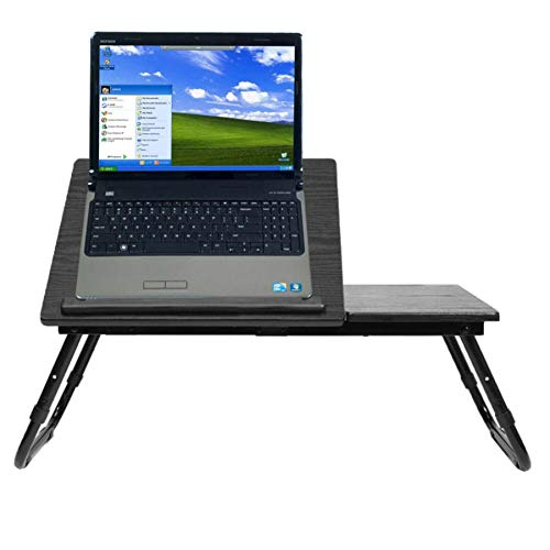 60X35cm Multifunctional Foldable Multi-angle Adjustment Computer Laptop Desk Table TV Bed Computer Notebook PC Table-A