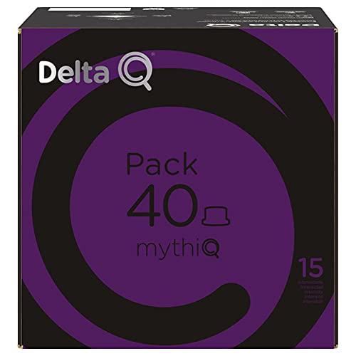 Delta Q Pack 40 Mythiq - 40 Cápsulas De Café - Intensidad Muy Alta, Chocolate