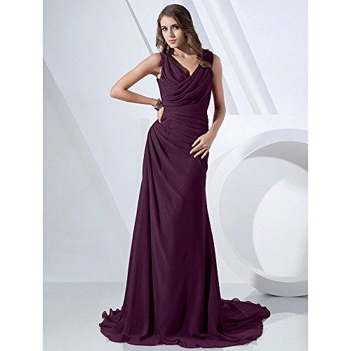 kekafu Brautjungfer Kleid 2017 Lanting Braut - Länge Spitze Zwei Stücke/Furcal Juwel mit Schaltflächen, Traube, US 16 / UK 20 / EU 46