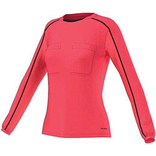 adidas Árbitro 2016 Camiseta de Manga Larga, Mujer, Rojo (R