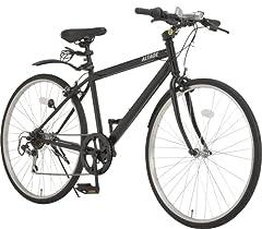 ALTAGE(アルテージ) ACR-001 クロスバイク 自転車 26インチ 6段変速 可変ステム 前後フェンダー マットブラック 46570