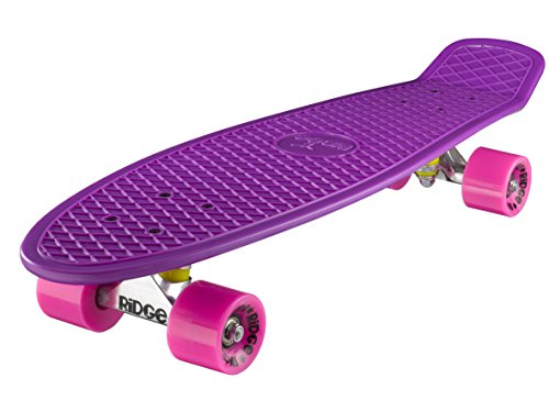 Ridge Skateboard Big Brother Nickel 69 cm Mini Cruiser, lila/rosa
