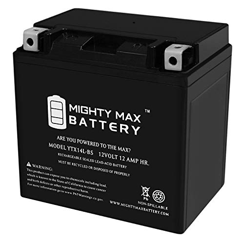 Mighty Max Battery YTX14L-BS Battery for Harley-Davidson 883CC XL, XLH (Sportster) 2005 Brand Product
