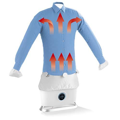 CLEANmaxx Automatischer Hemdenbügler mit Dampffunktion | Trocknet und glättet Hemden & Blusen und ersetzt Bügeleisen oder Dampfbügelstation | Automatische Bügelstation mit zwei Programmen