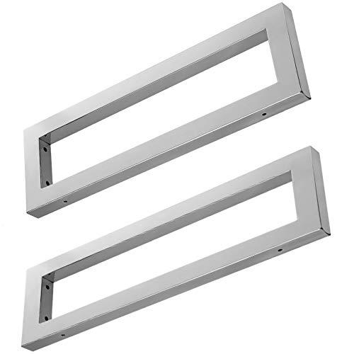 Wandkonsole EWH011-450 edel verchromt | Maße: 450x150x30 mm | Unterbau für Waschtischplatte | Liefermenge: 2 Stück