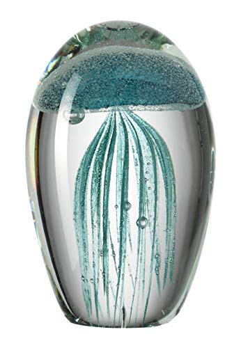 Leonardo Oceano Deko-Objekt Qualle La Baia, türkis, handgefertigtes Farbglas, 026023