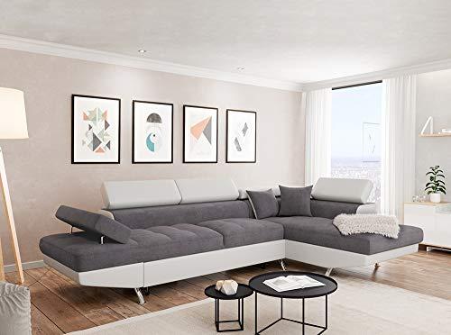 Canapé d'angle Blanc Microfibre