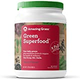 Amazing Grass Green Superfood: Super Greens Powder with Spirulina, Chlorella, Digestive Enzymes & Probiotics, Berry, 100 Servings