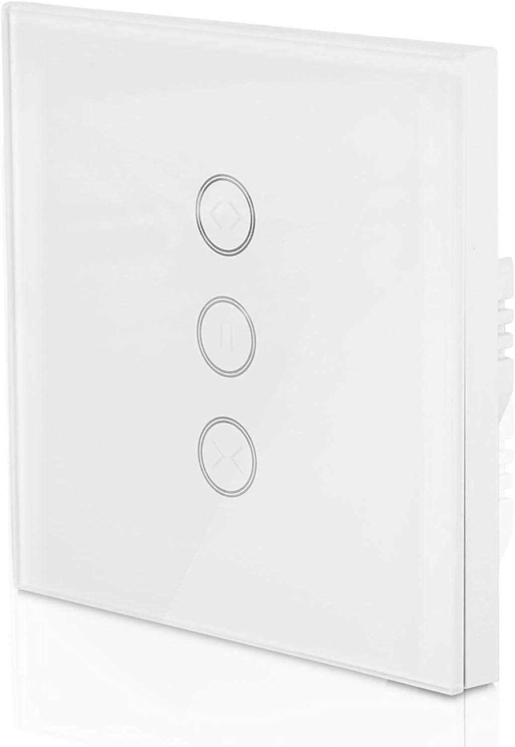 Interruptor WiFi Interruptor de motor de cortina de ahorro de problemas Distancia ilimitada Control de voz Control remoto Interruptor de cortina, adecuado para dormitorios