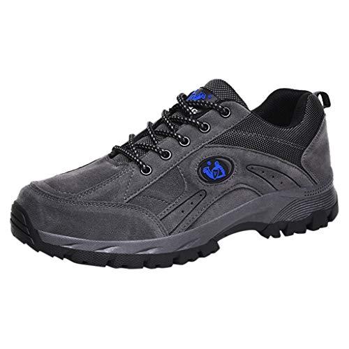 Allence Wanderschuhe Herren Trekkingschuhe Laufschuhe Mesh Atmungsaktive Wasserdicht Sportschuhe Outdoorschuhe Leicht Freizeit Hiking Sneaker Gr.39-46