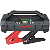Lokithor Jump Starter 2000Amp 20000mAh 12V Car Battery Booster Pack for Upto 8L Gas or 6L Diesel, 150 PSI Air Compressor with Damping Technology,Portable Power Bank with Handle Bar and Emergency Light