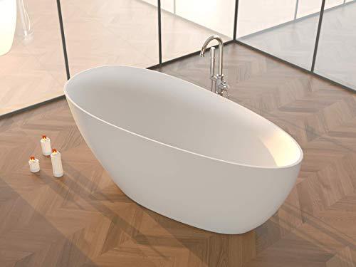 Freistehende Badewanne   Standbadewanne   Gussmarmor/Mineralguss/Solid Surface   Matt Weiß   (CALA)