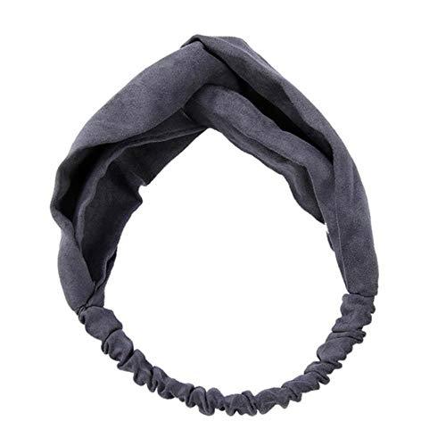 Tineo Haaraccessoires voor Vrouwen Fluwelen Hoofd Twist Hoofdband Kruisknoop Elastische Haarband Tulband Hoofdbanden Bandage Haarband, 4