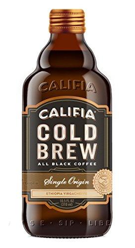 Califia Farms Single Origin Black Label Cold Brew, 10.5 Oz (Pack of 6) | All Black Coffee | Vegan | Non-GMO