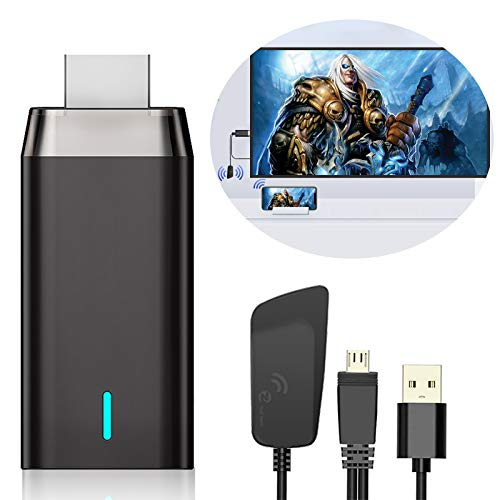 Wireless HDMI Display Dongle Adaptador, DIWUER 5G/1080P Miracast Airplay HDMI Dongle Receptor para Android / iPhone / iPad / Windows a Proyector / Monitor/ HDTV, Soporte Miracast DLNA Airplay