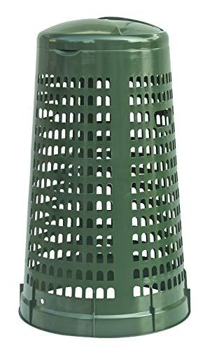 Trespolo bidone Portasacco 110 lt spazzatura da rifiuti differenziati o da riordino Mobil Plastic - Verde scuro