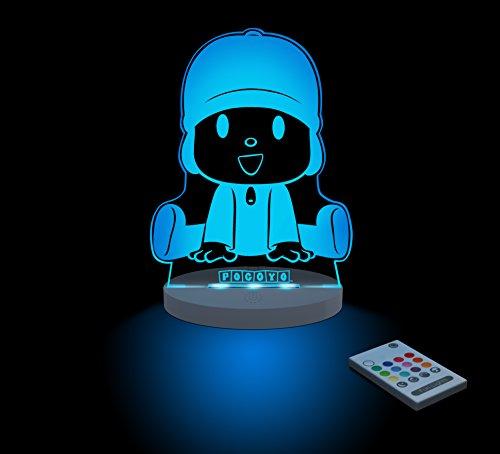 FUNLIGHTS Pocoyo Lámpara Bebé LED Multicolor con Mando. Elige el Color, Intensidad, Temporizador, Arco-iris y ¡mucho más!