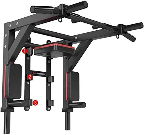 HAKENO Multifunktionelle Klimmzugstange für die Wandmontage Dip Station 2 in1 Pull Up Bar Wand Belastbarkeit bis 500 kg