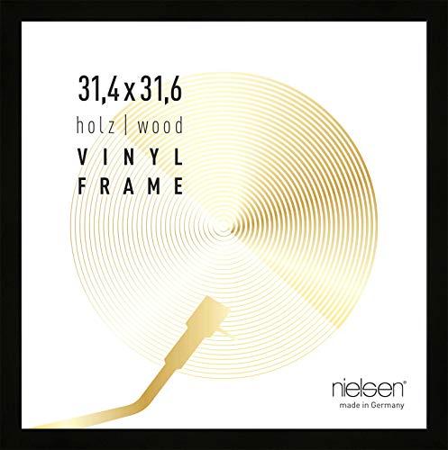 Nielsen Bilderrahmen Vinyl, 31,4x31,6 cm, Schwarz