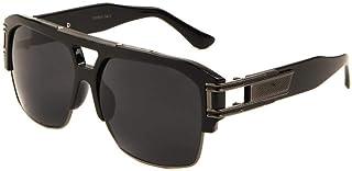 نظارة شمسية بتصميم مربع معدني وبلاستيك ريترو افياتور من جازيل بي بوي