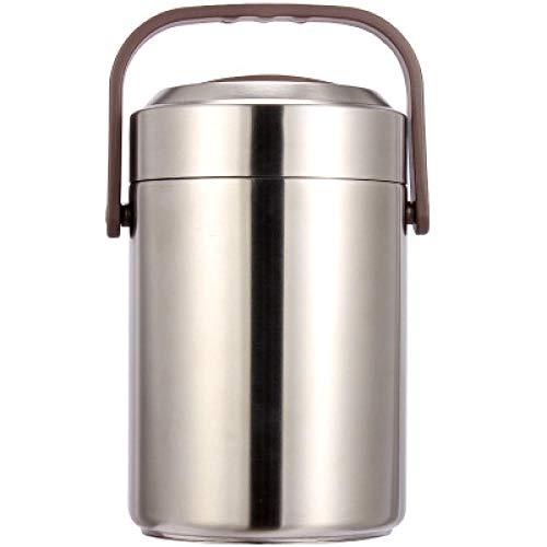 YanLong roestvrijstalen thermoskan, levensmiddelenkast, lunchbox, school voor volwassenen, picknick bento box, draagbare lunchbox met grote capaciteit