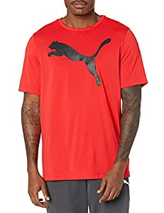 PUMA Men's Active Big Logo Tee, High Risk Red, XX-Large