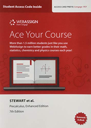 WebAssign Printed Access Card for Stewart/Redlin/Watson's Precalculus, Enhanced Edition, 7th Edition, Single-Term