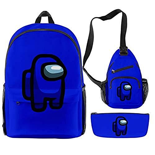 Dpprdl Mochila de 3 Piezas Mochila para portátil para Hombre, Mochilas Escolares para Adolescentes, niños y niñas, y Bolsas de Viaje al Aire Libre para Hombres y Mujeres