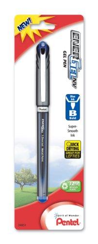 Price comparison product image Pentel EnerGel NV Liquid Gel Pen,  1.0mm,  Bold Line,  Capped,  Metal Tip,  Blue Ink,  1 Pack (BL30BPC)