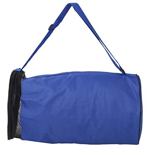 VGEBY Bolsa de Baloncesto, Bolsa de Transporte de Baloncesto, Bolsa de Almacenamiento para un Solo Hombro, con Correa de Hombro Ajustable para 2 Pelotas de Baloncesto, balones de Voleibol(Azul)