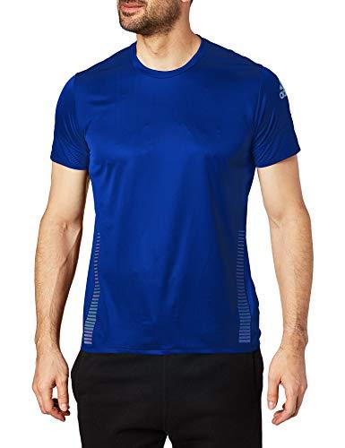 adidas Herren Runner 25/7 Tee Laufbekleidung T-Shirt Blau - Silber L