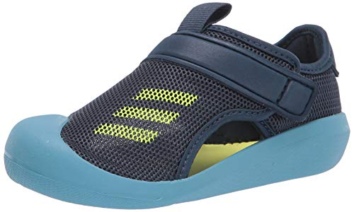 adidas Altaventure CT Slide Sandal, Crew Navy/Solar Yellow/Hazy Blue, 12 US Unisex Little Kid
