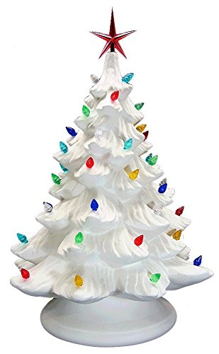 Lighted Christmas Tree - Paint Your Own Ceramic - Unfinished Low-Fire Ceramic Bisque - Paint-a-Potamus