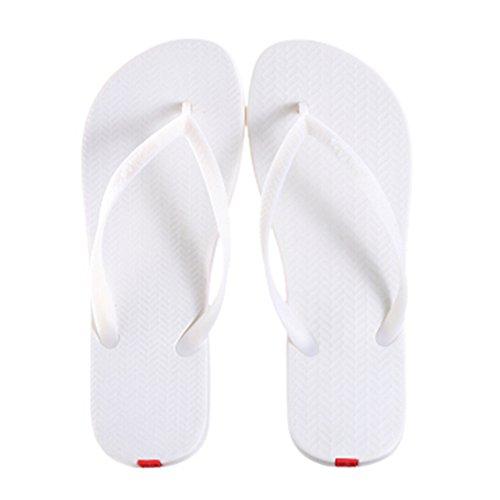Casual Tongs Unisexe Plage Chaussons Anti-Slip Maison Slipper Blanc