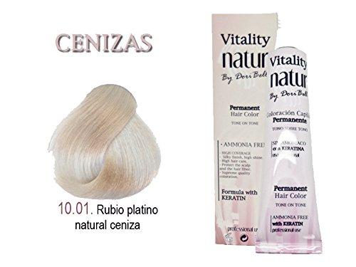 Vitality Natur Coloration à base de kératine et sans ammoniaque Teinte blond platine cendré 60 ml