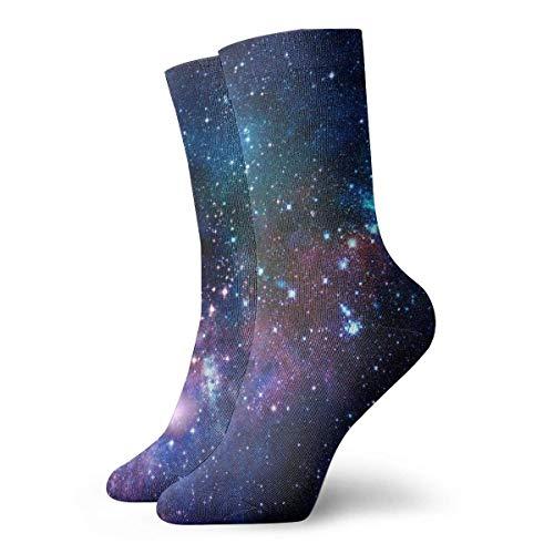 yting Calcetines de galaxia azul púrpura Calcetines divertidos Calcetines locos Calcetines casuales para niñas Niños