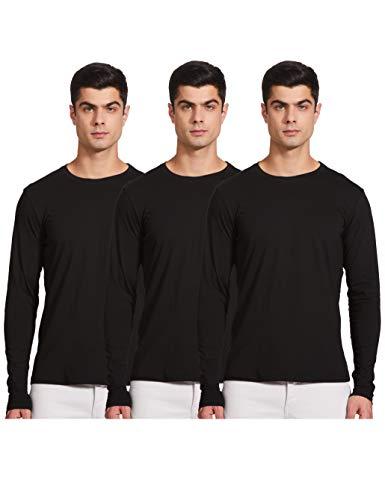 Diverse Solid Regular Men's Tshirt (Pack of 3) (DCMTSP03RC14L35-28_Black XL)