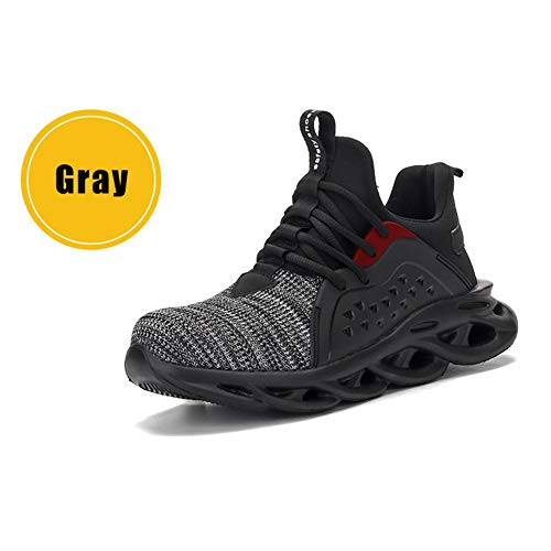 Acutty Work Steel Toe Shoe, Men Women Piercing-proof Lightweight Breathable Work Safe Shoes Safety Work Industrial Construction Breathable Sneakers Outdoor Lightweight Non Slip Shoes