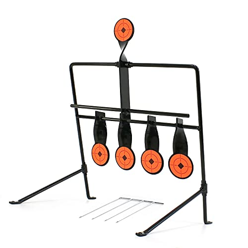 W WIREGEAR BB Gun Target Pellet Gun Targets Resetting Target Compact Package Heavy Metal Steel Auto Reset for .177 to .20 Caliber Shooting Outdoors