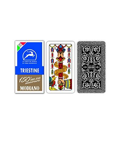 Modiano- Carte da Gioco regionali triestine, Colore Blu, 300146