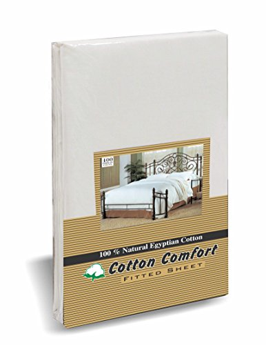 Cotton Comfort 100% EGYPTIAN COTTON 400 THREAD COUNT FITTED SHEET HOTEL...